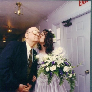 My dad, on my wedding day (obviously)