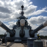 big guns on the USS North Carolina