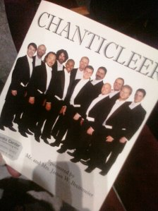 """I didn't feel like I could take photos at a """"formal"""" concert, so you'll have to make do with the program instead."""
