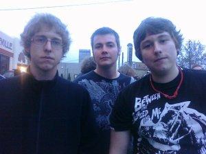 My awesome show buddies: Jesse, Robbie, Trevor