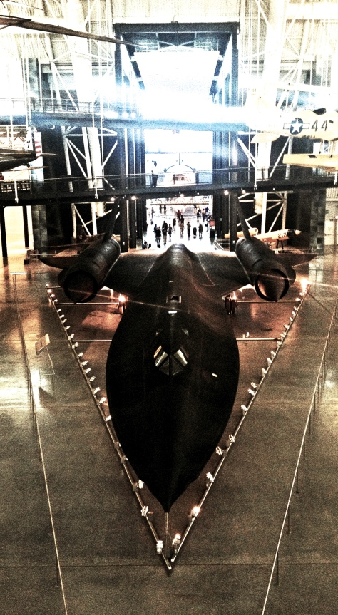SR-71 Blackbird, which greets you when you enter the museum.