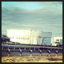 """Iconic NJ fuel tanks. """"Drive Safely!"""""""