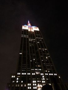 There's a little rooftop bar tucked next to the Empire State Building on 32nd Street. Their plaza offers an amazing view of the famous landmark.