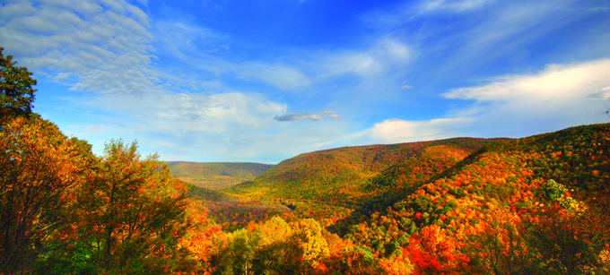 View of the Allegheny Mountains from Ohiopyle State Park, not far from where I grew up.