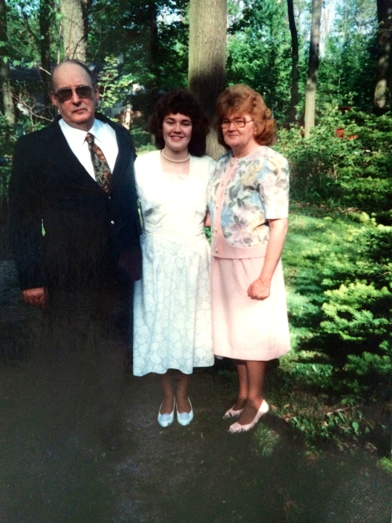My parents and I on the night of my high school graduation.