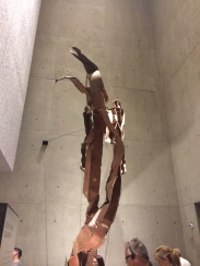 This piece of steel bore the brunt of the south tower's airplane hit. 9/11 Memorial & Museum
