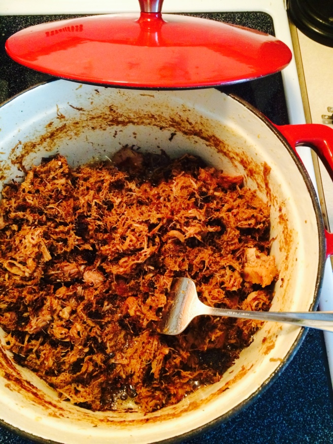 I'm only sorry that the Internet can't provide a sense of smell along with this tantalizing photo of my carnitas.
