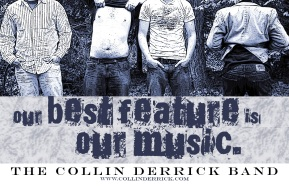 Early poster for The Fire Tonight, when they were still known as the Collin Derrick Band. Photos by Albert Spear