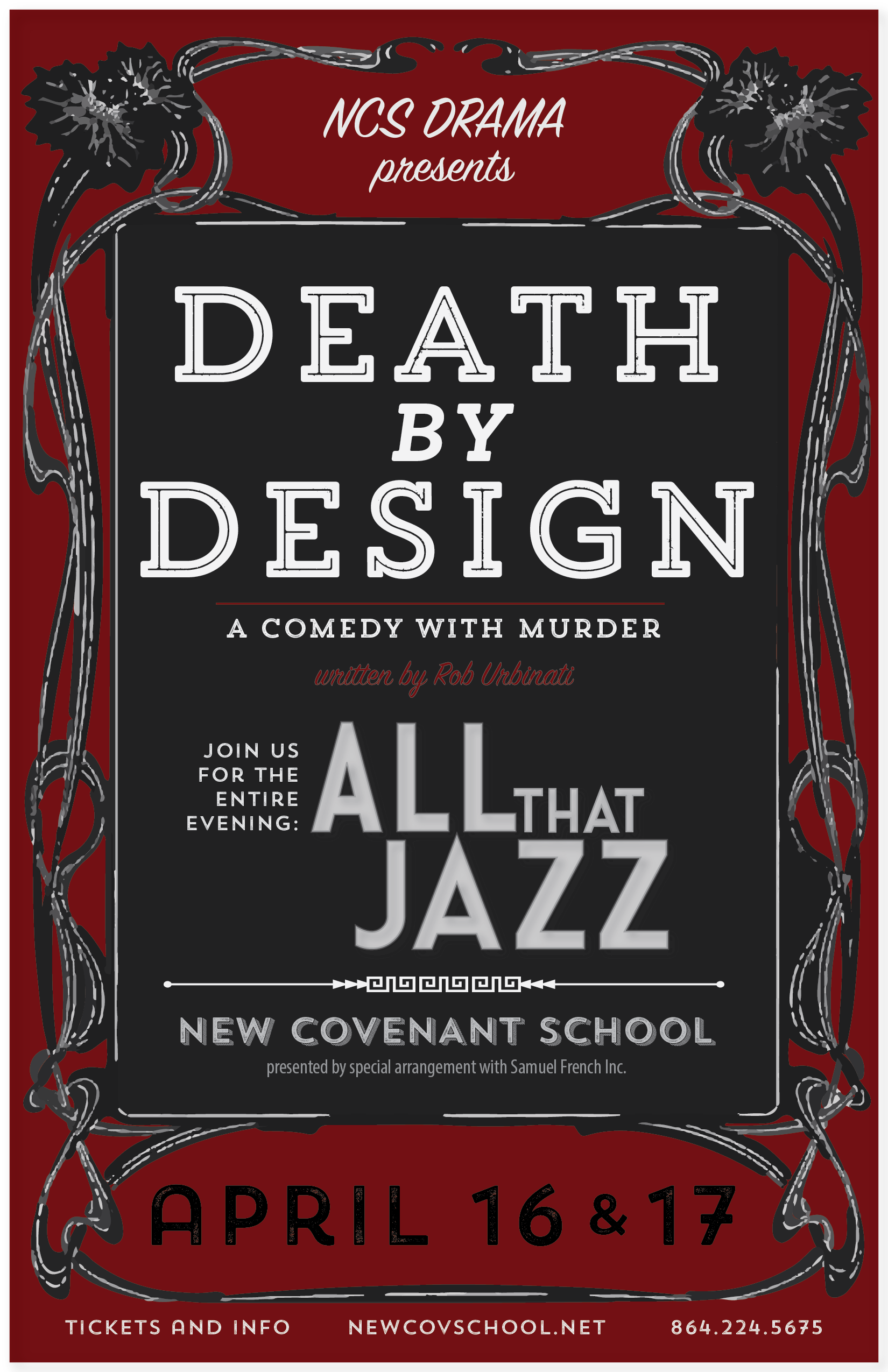 11x17 poster design - Death By Design Poster 11 17 With Event 01