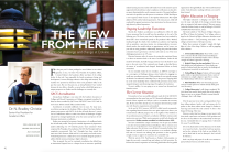 I'm most proud of my formal print layout work for the magazine at the college where I work. I may be the only person in the office who genuinely likes the work of a bi-annual magazine. I enjoy the challenge.