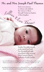 Baptism invite for a friend. He provided the photo.