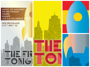 My fav series for these guys. They did a 4-show tour last summer, so I hooked them up with a series of colorful posters inspired by 1950s sci-fi book covers and artwork.
