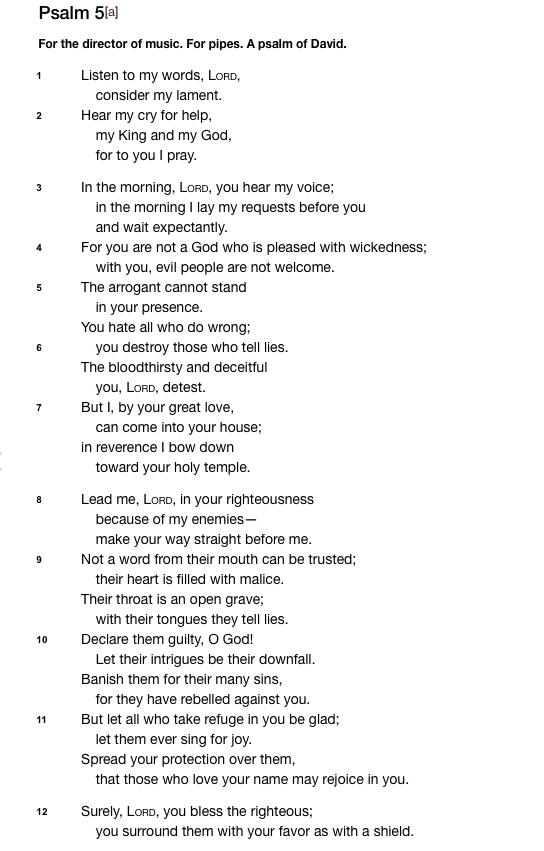 Psalm 5 NIV