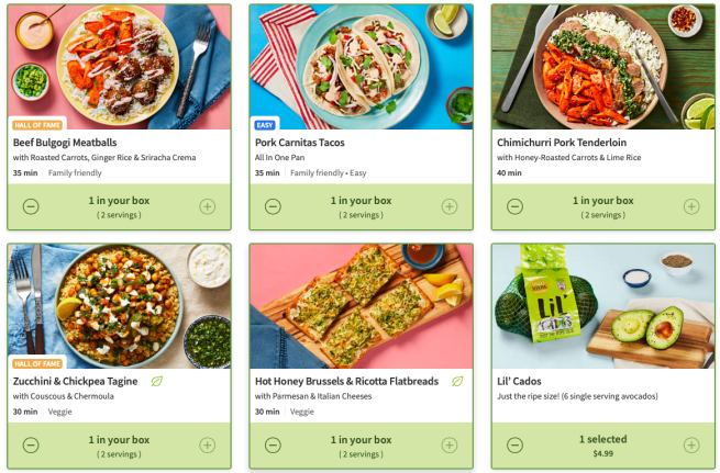 HelloFresh meal kit review May 2020